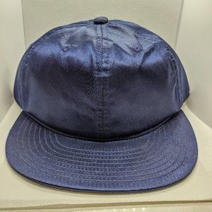 UB by N.A.R 6 Panel Strapback Cap Satin Navy New!
